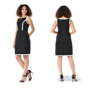 Eshakti Black and White Dress